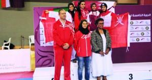 العيسرية تضيف الذهبية السادسة والسيبانية تحرز البرونزية لبعثة السلطنة في الدورة الخامسة لرياضة المرأة