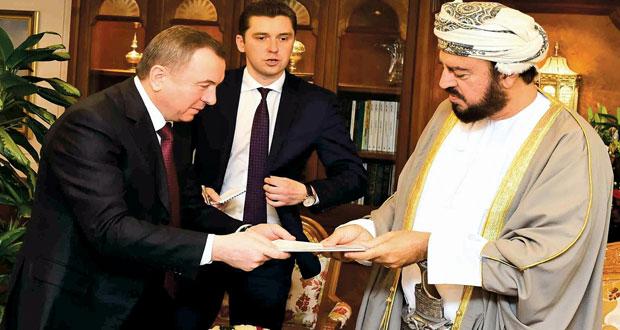 جلالة السلطان يتلقى رسالة خطية من رئيس بيلاروس