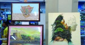 ٥٠ لوحة بملتقى للفنون التشكيلية في سمائل