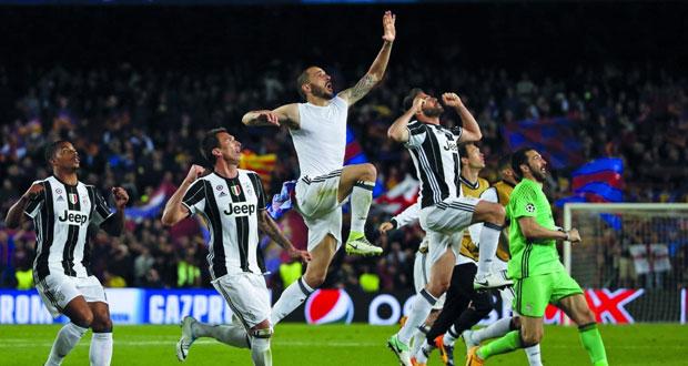 يوفنتوس ينهي حلم برشلونة وموناكو يقضي على آمال دورتموند في دوري أبطال أوروبا