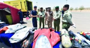 وفد من الحرس الوطني الكويتي يزور الهيئة العامة للدفاع المدني والإسعاف