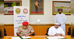 الخدمات الهندسية بوزارة الدفاع توقع على رسالة تفاهم للتعاون الأكاديمي والتدريـبي مع جامعة السلطان قابوس