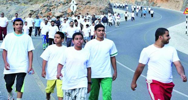 اللجنة الشبابية بولاية العوابي تنظم مسيرا رياضيا صحيا