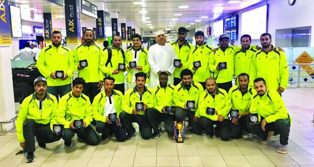 منتخبنا لهوكي الجليد ثالثا في بطولة آسيا بالكويت