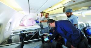 نجاح نقل مواطن لا تسمح حالته الصحية بنقله عن طريق الطيران التجاري من الصين