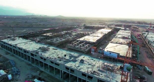 إنجاز 70% من الأعمال الانشائية لمباني مدينة سندان المتكاملة للصناعات الخفيفة والتسليم في الربع الثالث من 2018