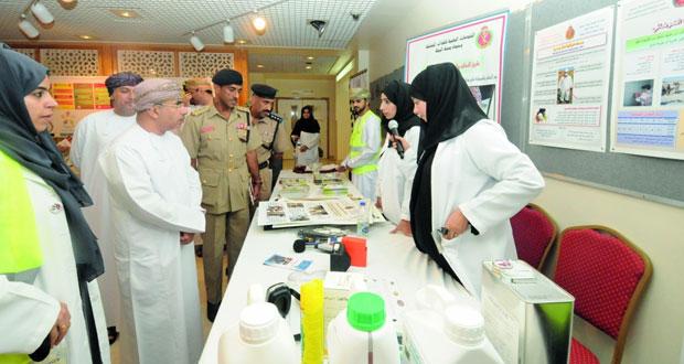 المستشفى السلطاني ينظم معرضاً بمناسبة اليوم العالمي للسلامة والصحة المهنية