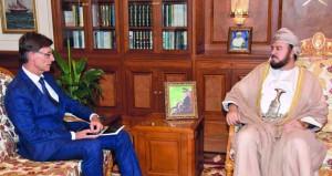 أسعد بن طارق يستقبل سفيري إيطاليا والبرازيل