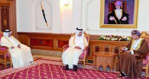 فهد بن محمود يستقبل وزير المالية القطري