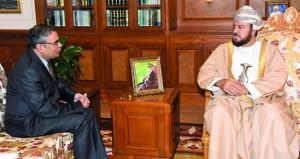 أسعد بن طارق يستقبل السفير الهندي