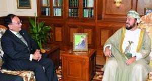 أسعد بن طارق يستقبل السفير الياباني