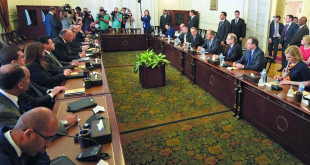 مصر: السيسي يبحث مع وزيري خارجية ودفاع روسيا تعزيز الشراكة