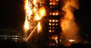 حريق ضخم في لندن يلتهم برج سكني والسلطات البريطانية تستعين بالمئات من رجال الإطفاء