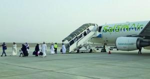 طيران السلام يدشن أولى رحلات خطه المباشر بين مطاري صلالة وصحار