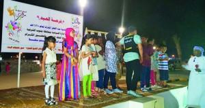 إدارة السياحة بجنوب الشرقية تنظم فعالية فرحة عيد