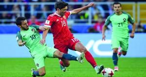 في كأس القارات 2017: سحرة البرتغال تتفوق على الدب الروسي وتقترب من الدور نصف النهائي