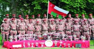 فريق قوات السلطان يحقق المراكز الأولى في مسابقات البطولة العسكرية الدولية للرماية بالمملكة المتحدة