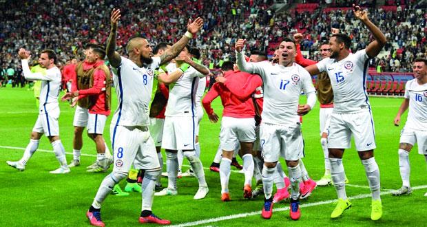 في كأس القارات : صقور تشيلي تصعد للنهائي ..اصطادت سحرة البرتغال بركلات الترجيح