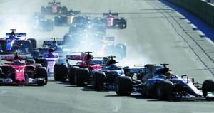 في جائزة أذربيجان الكبرى للفورمولا1 : فوز ريكياردو بعد سباق متوتر بين فيتل وهاميلتون