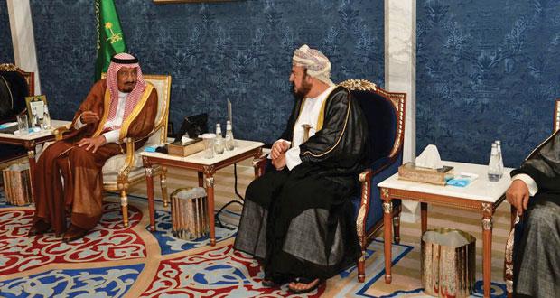 تعازي جلالة السلطان لخادم الحرمين نقلها أسعد بن طارق