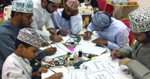 حلقة عمل للخط العربي بنادي عبري