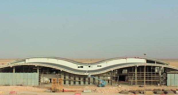 إنجاز 70 % من مبنى المسافرين بمطار الدقم