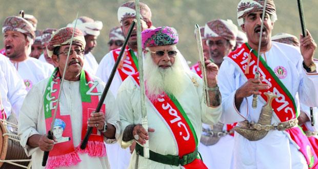 أهالي وادي بني هني ينظمون مسيرة ولاء وعرفان لجلالة السلطان