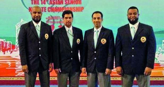 """حكام السلطنة يرتقون إلى """"قاضي A""""في في ختام بطولة آسيا للكاراتيه التصنيفية بكازاخستان"""