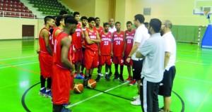 منتخبنا الوطني لشباب السلة يختتم الأحد القادم معسكره الرابع بصحار