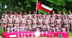 فريق قوات السلطان المسلحة للرماية يتألق ويحقق المراكز الأولى