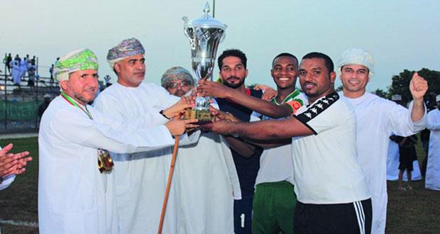 فريق الشعيبة يتوج بطلا لبطولة كأس نادي المصنعة