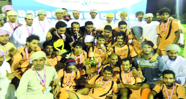تتويج فريق حج بطلا لبطولة شجع فريقك على مستوى محافظة الوسطى وممثله