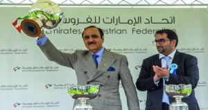 ريام وسلفين الموري للخيالة السلطانية تفوزان بكأسين في منافسات سباق يوم دبي الدولي على مضمار نيوبري البريطاني