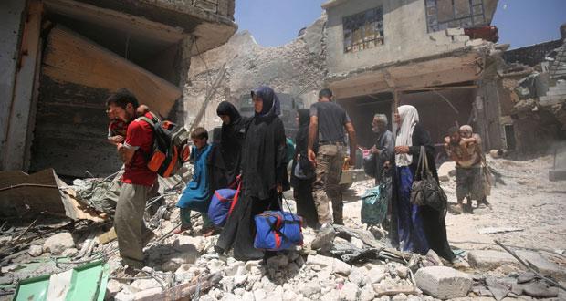 القوات العراقية تضيق الخناق على آخر مواقع داعش في الموصل