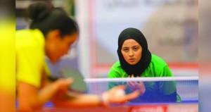 تواصل الإثارة والندية بمنافسات البطولة الـ16 لكأس العرب لكرة الطاولة