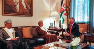 تحيات جلالته للعاهل الأردني ينقلها ابن علوي