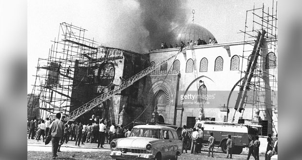 الفلسطينيون يحيون ذكرى «إحراق الأقصى» بتعهدات التصدي لمؤامرات الاحتلال