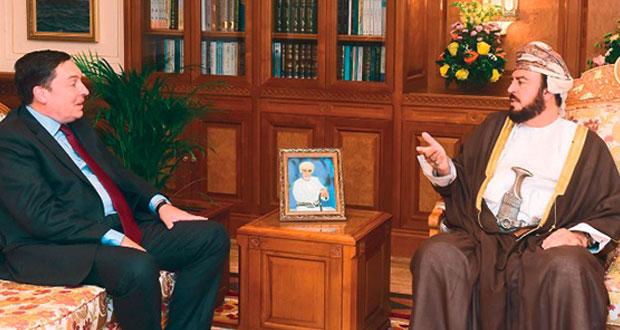 نيابة عن جلالته.. أسعد بن طارق يستقبل سفيري بنجلاديش والمملكة المتحدة