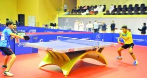 منافسات قوية في فئة الأشبال لبطولة كأس العرب لكرة الطاولة في اليوم الأول