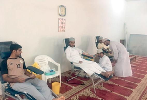 حملة للتبرع بالدم بقرية المسفاة بولاية الرستاق