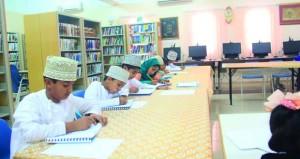 """تواصل دورة """"تحسين الخط العربي للأطفال""""بجعلان"""