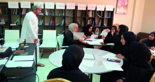 """""""إرادة الثقافـي""""يقيم حلقات عمل لتعزيز القيم الثقافية بالرستاق"""