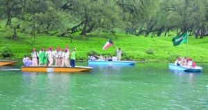 بدء برنامج السياحة الكشفية ضمن المخيم الكشفي الصيفي الخليجي بجبل آشور