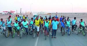 ختام فعاليات سباق الدراجات الهوائية لفريق المعمور ببهلاء
