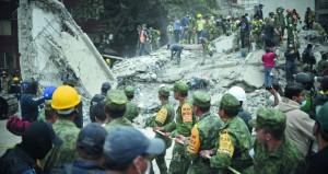 عشرات القتلى والجرحى والمفقودين بزلزال عنيف في المكسيك