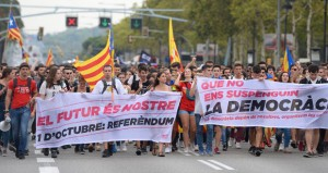 الآلاف يتظاهرون في إقليم الباسك تأييدا لاستفتاء كاتالونيا