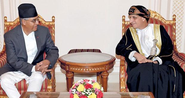 فهد بن محمود في مقدمة مستقبلي رئيس الوزراء النيـبالي