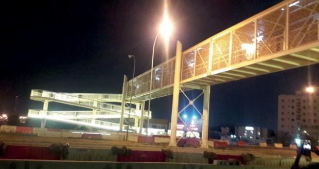 افتتاح جسر مشاة الطريف بصحار