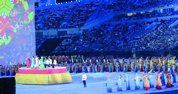 افتتاح مبهر لدورة الألعاب الآسيوية الخامسة بتركمانستان