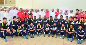 استقبال حافل لبعثة منتخبنا الوطني للناشئين لكرة القدم